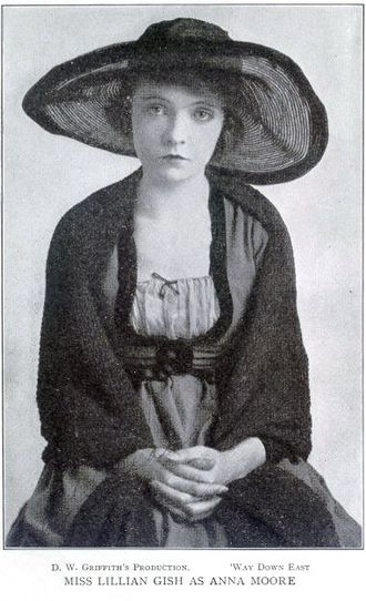 Lillian Gish - Gish as Anna Moore in D. W. Griffith's Way Down East (1920)