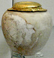 LimestoneVesselWithGoldCoverFromTombOfKhasekhemwy2-BritishMuseum-August21-08.jpg