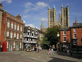 Lincolnshire - Part of 'The Bailgate'. The centre of the uphill area of Lincoln.