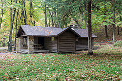 Family cabin at Linn Run State Park