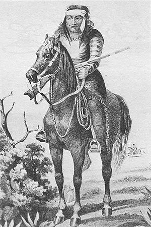 Apache–Mexico Wars - A Lipan Apache in 1857.  The Lipan were the easternmost of the Apache, living in the San Antonio, Texas area in the early 19th century.