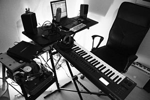 LiquidMolly's home recording studio.