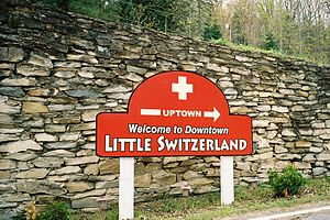 "Little Switzerland, North Carolina - ""Welcome To Downtown Little Switzerland"""