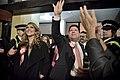 Llegada al John Mackintosh Hall de Fabián Picardo en la mañana en que se conocerán los resultados de las elecciones generales de Gibraltar (22721342673).jpg