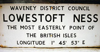 Ness Point - Plaque marking the easternmost Point of the British Isles