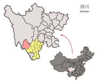 Muli Tibetan Autonomous County - Muli in pink