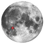 Location of lunar crater fra mauro