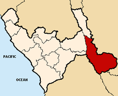 Location of the province Pataz in La Libertad.png