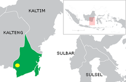 Location of the capital of Banjar Sultanate