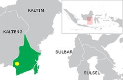 Местоположение столицы Банджар Султаната
