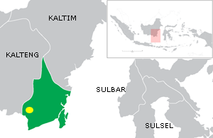 Sultanate of Banjar - Location of the capital of Banjar Sultanate