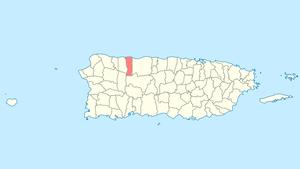Hatillo, Puerto Rico - Image: Locator map Puerto Rico Hatillo