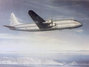Lockheed R6V Constitution - The first XR6O-1 Constitution in flight