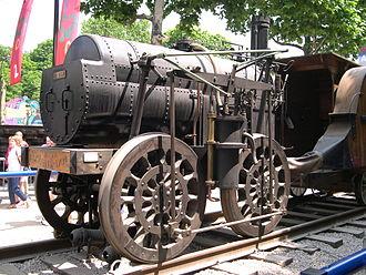 Marc Seguin - Replica of 1829 locomotive Marc Seguin at the Champs Elysées Expo Train Capitale, Paris, 2003.