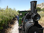 Locomotora de vapor ARGANDA, Henschel, año 1925, foto mayo 2013, Madrid, Spain.JPG