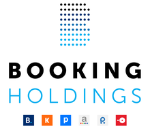 Logo of Booking Holdings Inc,(lock up, stacked with Brands, full color).PNG