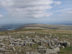 High Raise (High Street) - Looking north from the summit to Wether Hill and Loadpot Hill.