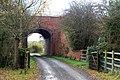 Looking south to the railway bridge at Lower Westfields, Harbury - geograph.org.uk - 1569863.jpg