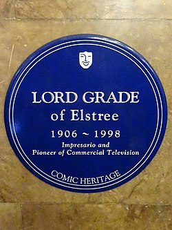 Lord grade of elstree 1906   1998 impresario and pioneer of commercial television