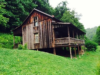 Butcher Hollow, Kentucky - The childhood home of Loretta Lynn and Crystal Gayle, June 2014.