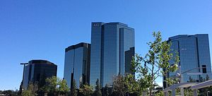 American International Group - The AIG Headquarter Building of Woodland Hills, Los Angeles.