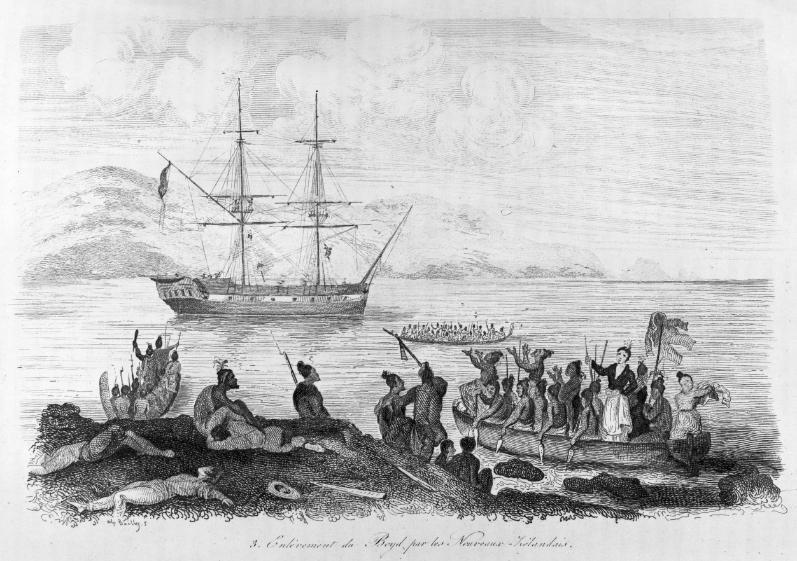 Louis Auguste Sainson - Enlevement du Boyd par les Nouveaux Zealandais (1839)