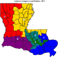 Louisiana Congressional districts, 2013.png