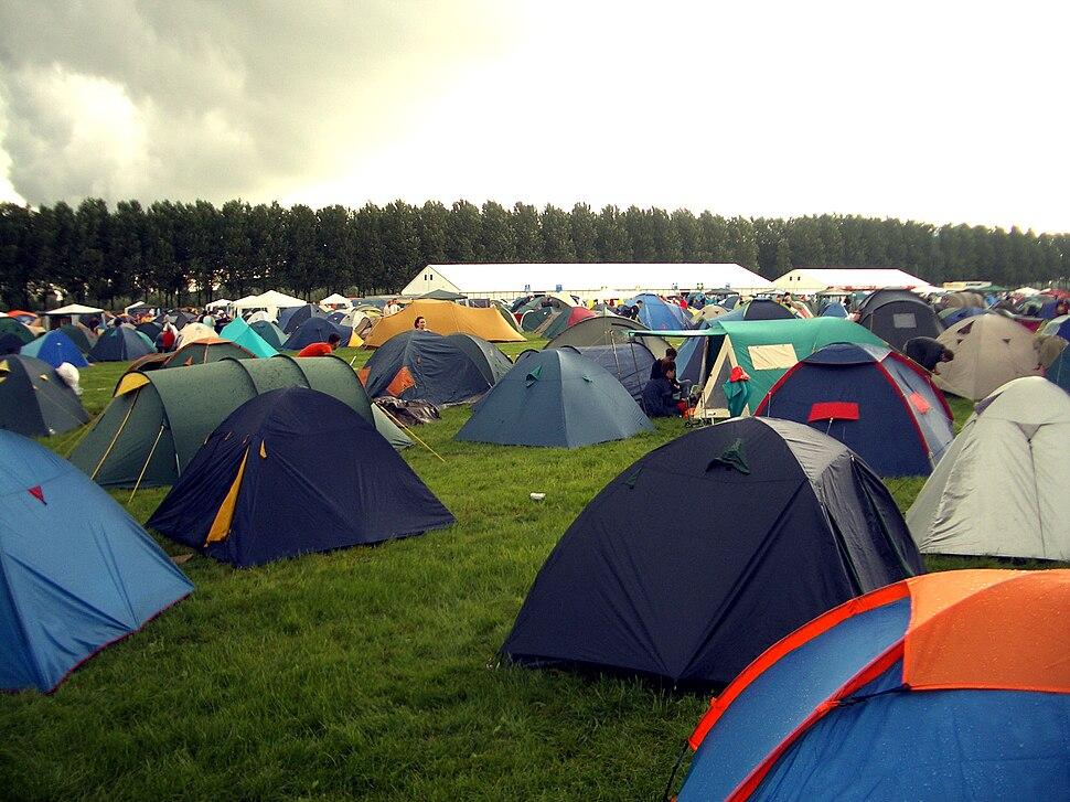 Lowlands tents