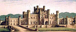 Lowther baronets - Lowther Castle circa 1880 - the seat of the Lowther family