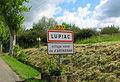 Lupiac Panneau village natal de d'Artagnan.JPG