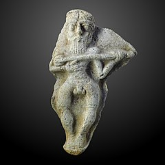 moulded figurine of a luth player Sb 7879