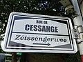 Luxembourg, rue de Cessange, Zéisséngerwee - nom de rue.jpg