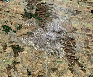 Lviv - Lviv satellite view (Landsat 5, 14 November 2010)