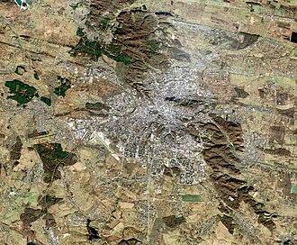 Lviv - Lviv satellite view (Landsat 5, 14 November 2010)