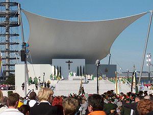 Pope Benedict XVI in Munich, Divine Service in...