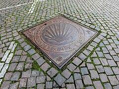 Münster, Lambertikirchplatz, Schachtdeckel -- 2021 -- 5219.jpg