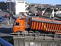 "M. Way & Son artic tipper ""Lucy Ann"" (KS03 WAY), Port of Teignmouth, 28 March 2012.jpg"