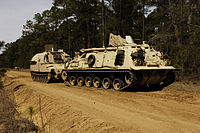 M88 Recovery Vehicle & M992 field artillery ammunition supply vehicle.JPEG