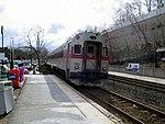 MBTA 1521 at Wellesley Hills station, March 2013.JPG