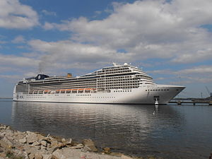 MSC Magnifica at Pier 24 in Tallinn 14 May 2013.JPG