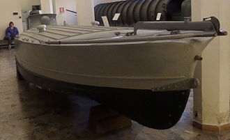 MT explosive motorboat - MTM in the Naval Museum, Venice.