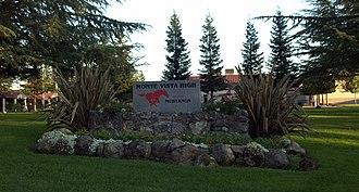 Monte Vista High School (Danville, California) - Image: MVHS Entrance Stone