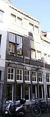 foto van Huis met lijstgeveltje met jaartalstenen 17 09.