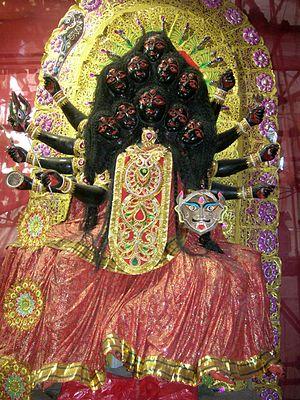 Mahakali - The ten-headed Mahakali.