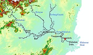 Mahakam River - Image: Mahakam Map