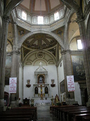 Church of La Soledad, Mexico City - Main nave