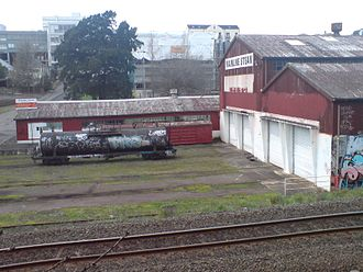 Parnell railway station - The former Mainline Steam depot.