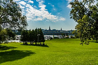 Jacques Cartier Park - Jacques-Cartier Park, with Parliament Hill in the background