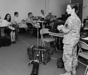 Guantanamo military commission - Major Elizabeth Kubala, Spokesperson for the Office of Military Commissions, gives a press briefing.