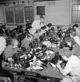 Making Shoes For the Wrens- the Manufacture of Footwear For the Women's Royal Naval Service at a Factory in the Midlands, England, UK, 1944 D23049.jpg